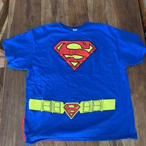 Superman shirt and attached red cape